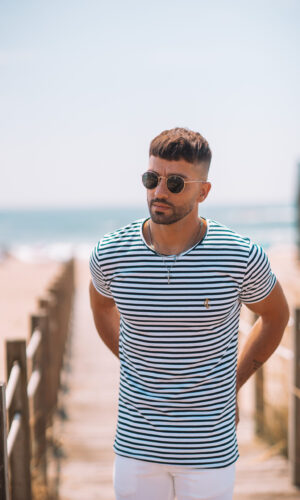 T-shirt Marine BlueGold