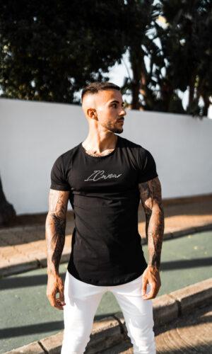 T-shirt Strass Black