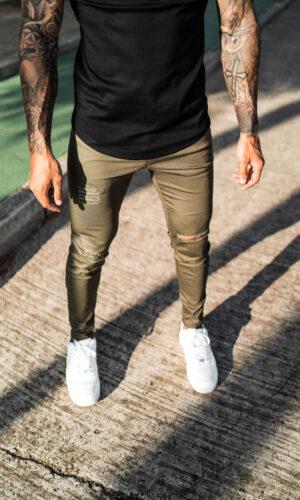 Jeans Dark Green Root