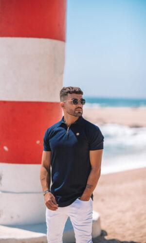 Polo-Shirt Hexa BlueGold