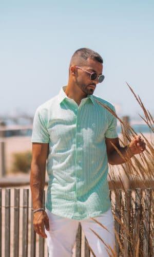Urban-Shirt Green Fluor Stripes